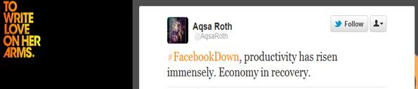 fb down tweet 1 Tips for creative use of online crisis